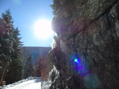 Phénomène de lumière au lac du Ballon 68